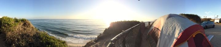 Campsite oceanfront view