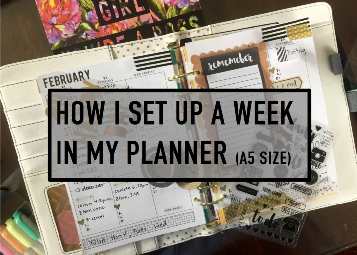 How I set up my week in my planner