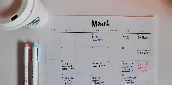 Monthly Calendar: the backbone of planning