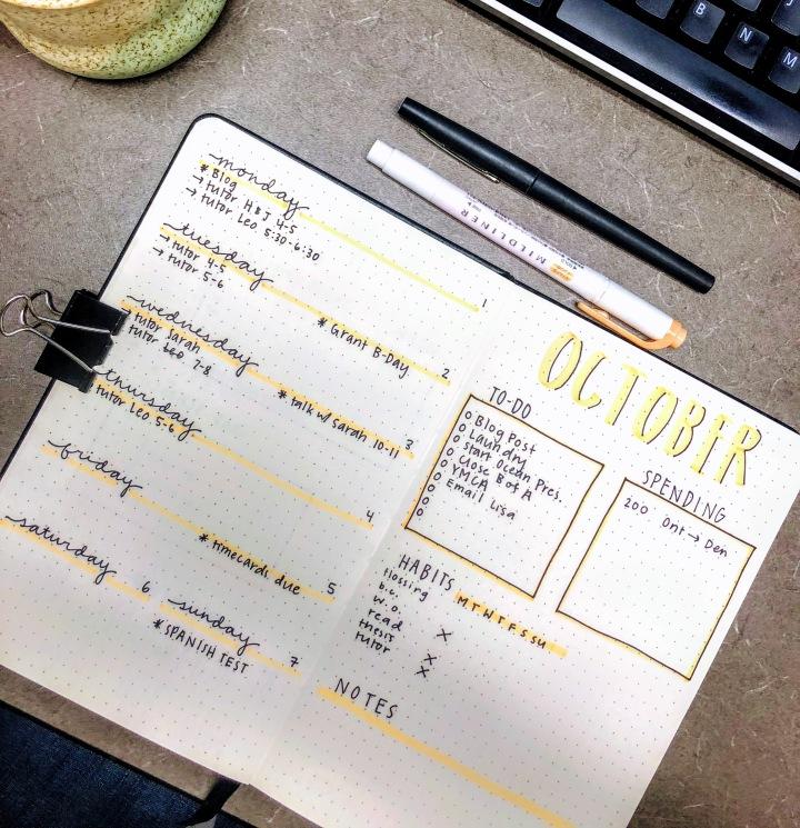 October Bullet Journaling
