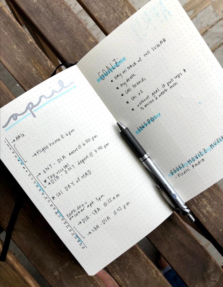 Bullet Journal Update (April2019)